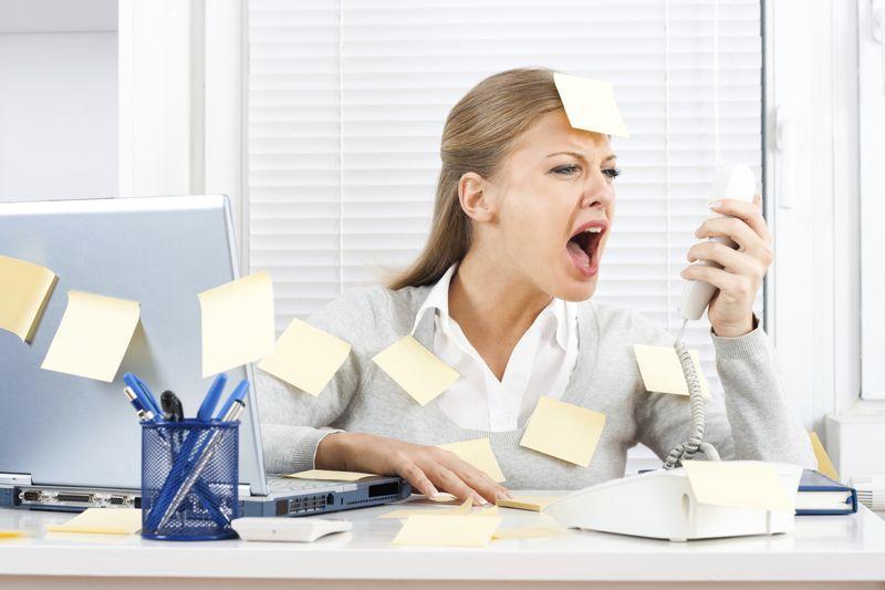 Стрес на служебния телефон